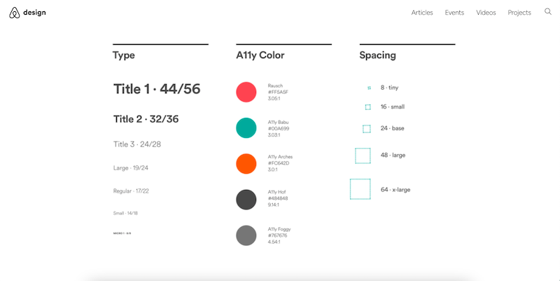 Airbnb color code